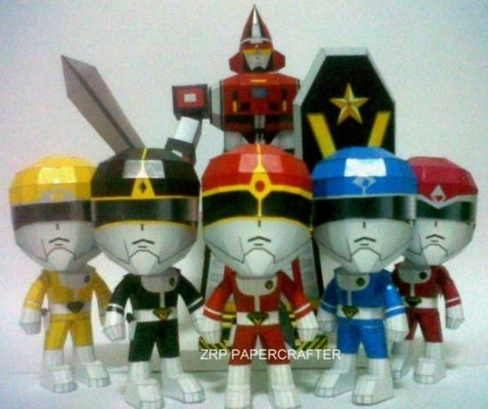 Dai Sentai Goggle-V Paper Models In SD Style - by ZRP Papercrafter       ====           The Sentai Warriors in a SD version (super deformed version), by Indonesian designer ZRP Papercrafter. Dai Sentai Goggle-V, also called Dai Sentai Goggle Five is a Japanese tokusatsu television series. It was the sixth installment in Toei Company's Super Sentai series of tokusatsu television dramas. It aired on TV Asahi from February 6, 1982 to January 29, 1983, with a total of 50 episodes.