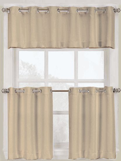 ... A Stainless Steel Grommet For Slide U0026 Style, Separate Program, Enhance  The Appearance Of Your Kitchen Decor With These Easy To Hang Grommet  Curtains.