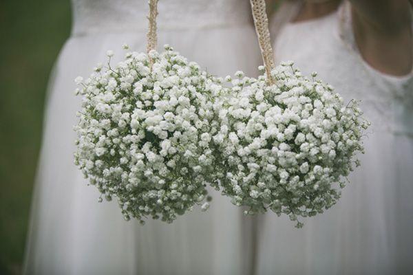 Gypsophila Pomanders Bridesmaids
