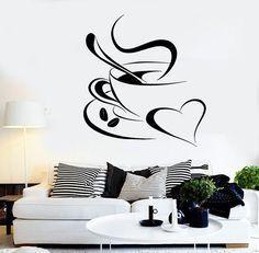 Vinyl Decal Coffee Break Romantic Coffee Shop Kitchen Café Wall Sticker Restaurant Decoration (ig2321)
