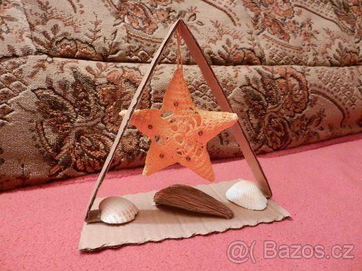 dekorace - háčkované hvězdy - 1