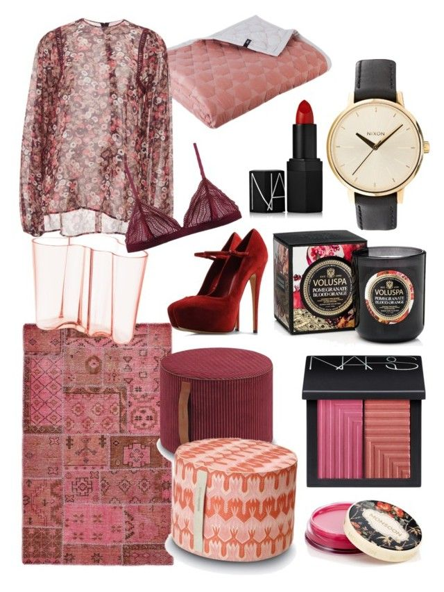 Untitled #24 by beanor on Polyvore featuring polyvore, fashion, style, Giamba, Cosabella, Casadei, Nixon, NARS Cosmetics, Monsoon, Rizzy Home, Missoni Home, Voluspa, HAY and iittala