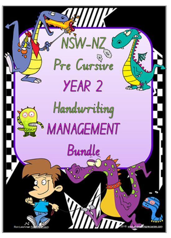 Year 2 | Handwriting | Management | BUNDLE | NSW-NZ  PreCursive