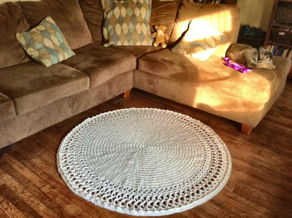 Large Thick and Soft Crochet 51 Round Swirl by OnceUponACraft4U, $169.99