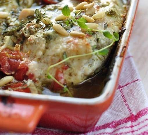 Supermalse Gemarineerde Kipfilet Met Pesto Uit De Oven recept | Smulweb.nl
