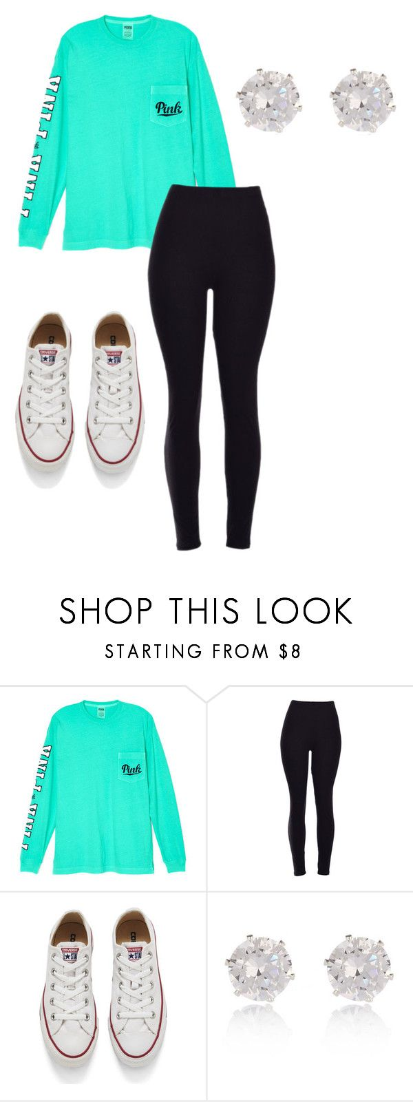 """""""Cute outfit for school"""" by ryleemendel ❤ liked on Polyvore featuring Victoria's Secret, Converse and River Island"""