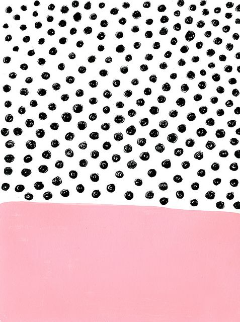 pink & black dots