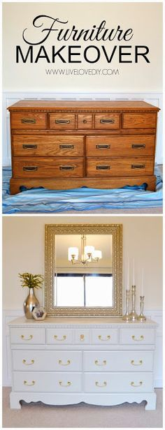 How to paint old furniture and give a new life #DIY #makeover