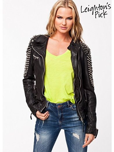 Biker jacket with studs - trendy in 2014 and super sexy!
