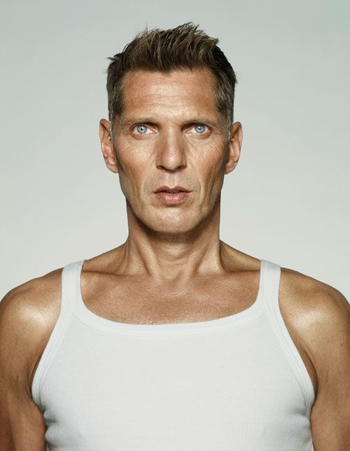 Erwin Olaf self portrait. A true genius of modern photography, the Dutch photographer Erwin Olaf blends journalistic reportage with studio photography and poised portraiture.