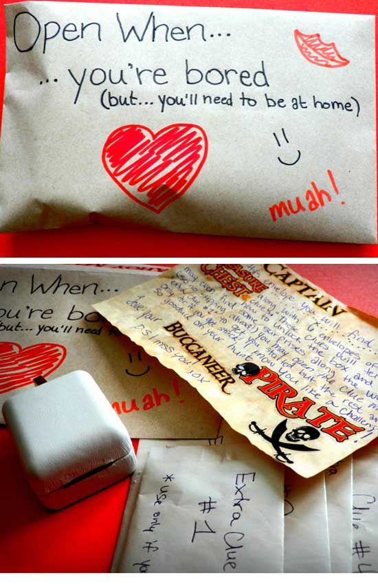 Homemade romantic gifts
