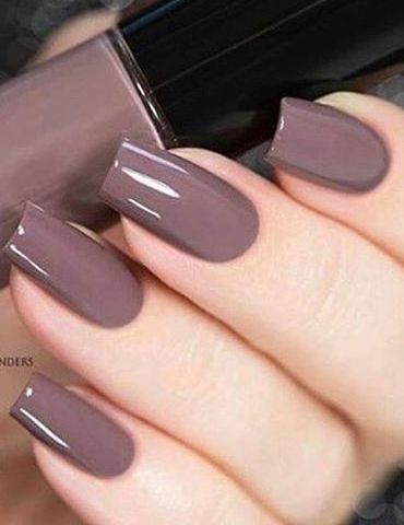 This brown nail polish is the real deal