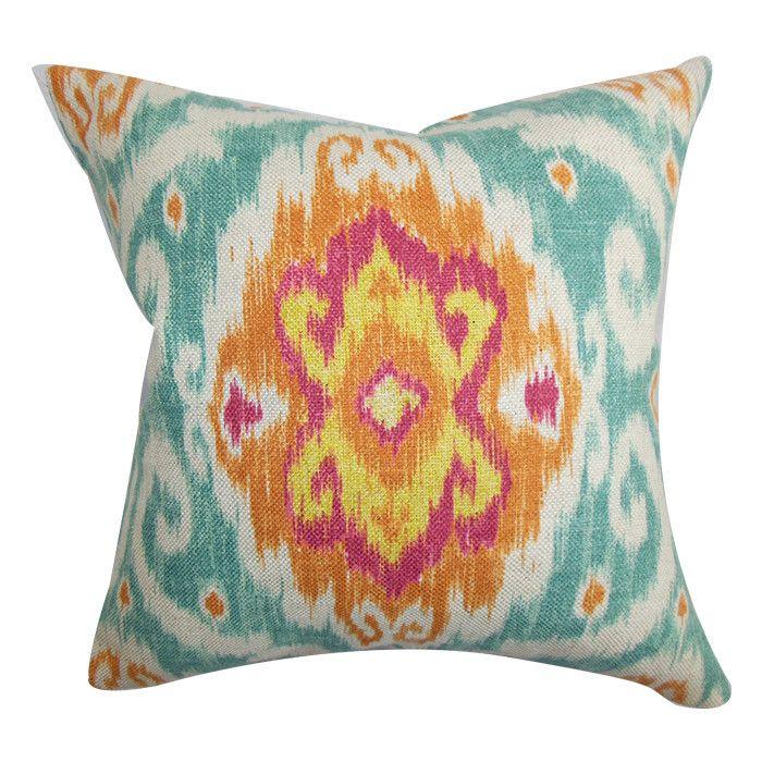 Ikat damask pillow