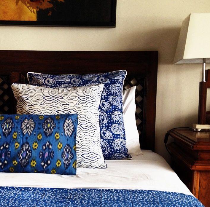 Blue Cushions by Tan Living.