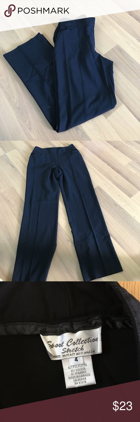 Sport collection stretch dress pants New condition. Size 4. sport collection Pants Straight Leg