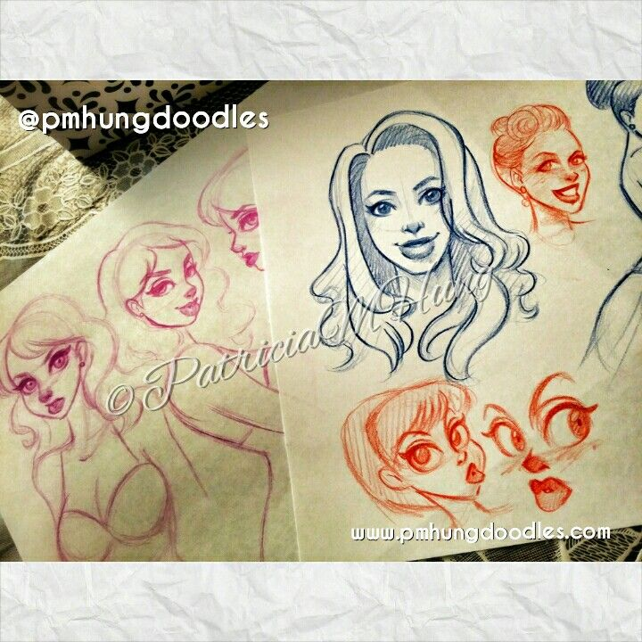 Sketches  Pin up art by Patricia M Hung  ©PatriciaMHung   http://www.pmhungdoodles.com  https://www.facebook.com/pmhungdoodles