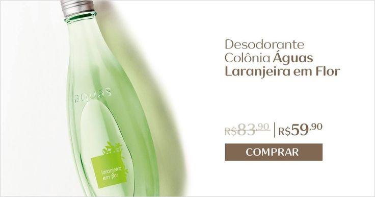 A fragrância cítrica do desodorante colônia Águas Laranjeira em Flor proporciona uma perfumação única e refrescante. Aproveite para comprar online com desconto especial.  Natura Águas Mais de 25% de desconto.