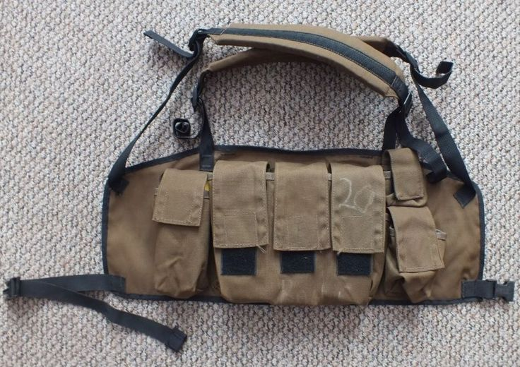 SOUTH AFRICAN DEFENCE FORCE 83 PATTERN CHEST WEBBING RIG SADF P83 NUTRIA BROWN