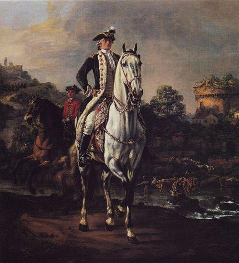 Bellotto Bernardo , Ritratto equestre del paggio Gintowt