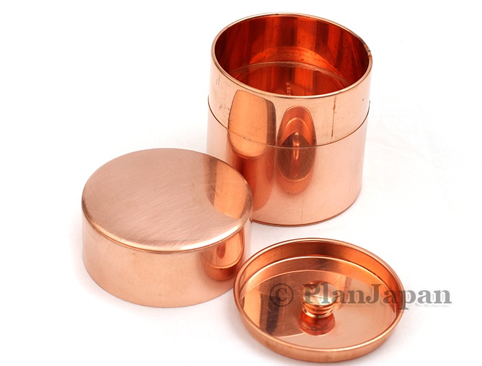 Copper hand made canister for tea or spices