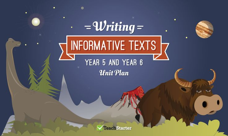 Writing Informative Texts Unit Plan – Year 5 and Year 6