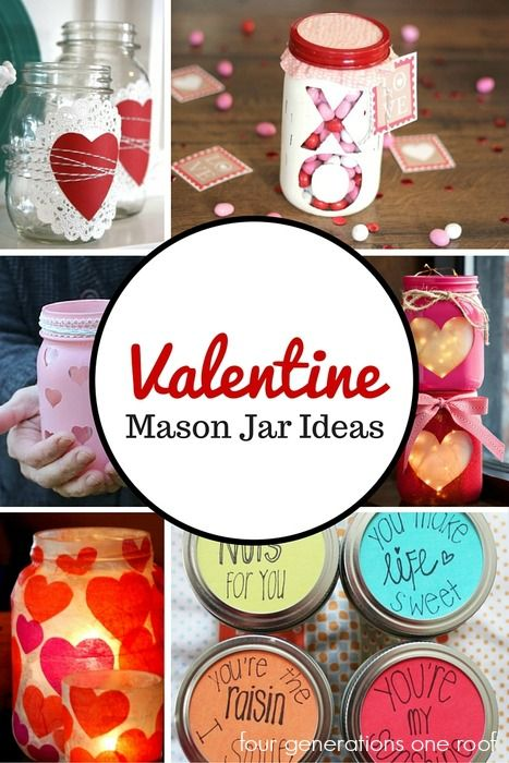 valentine mason jar ideas | Valentines Day Ideas | Valentines Day Crafts