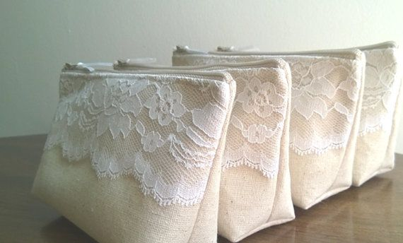 White Lace Wedding Clutches Clutch Sets Linen and by GeauxMelange