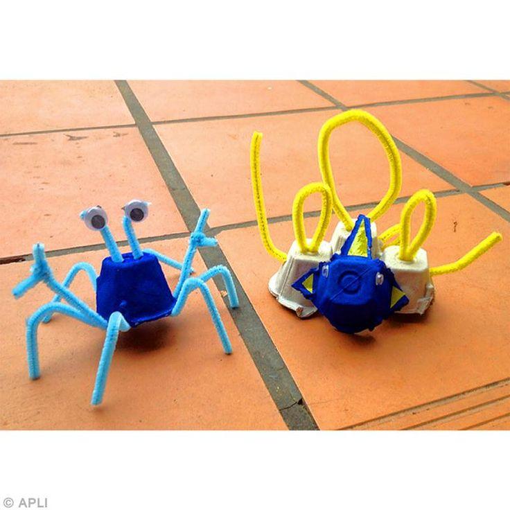 6. Création de crabe en fil chenille terminée !