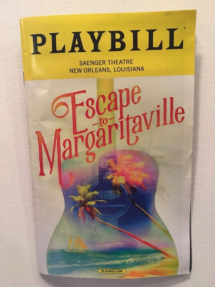 Escape to Margaritaville Pre Broadway Musical PLAYBILL