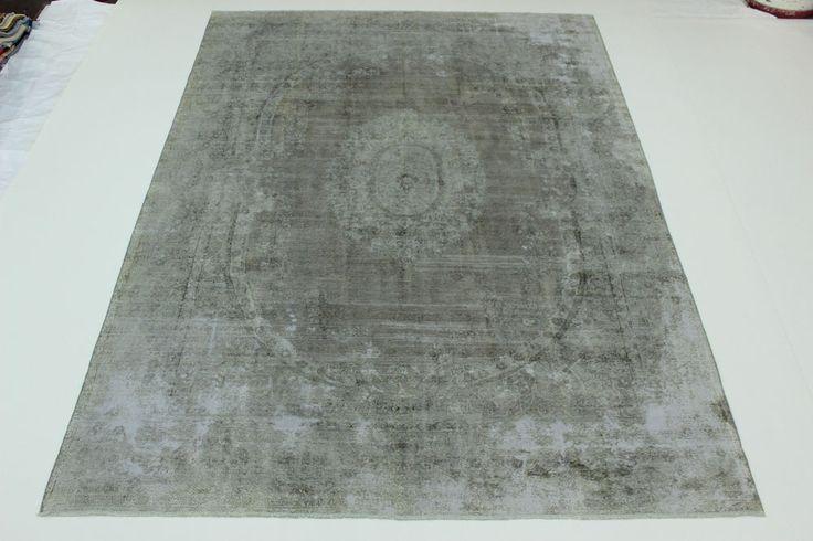 Künstler Vintage fein Stone wash Used Look Perser Teppich Orientteppich 4,05X284    eBay/alternativ overdyed Persiaman
