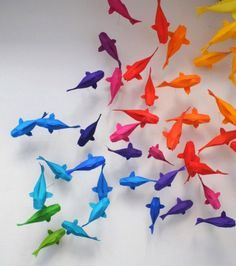 lovely origami fishes
