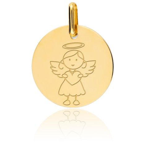 Médaille My Angel Fille Or Jaune 9K - Lucas Lucor