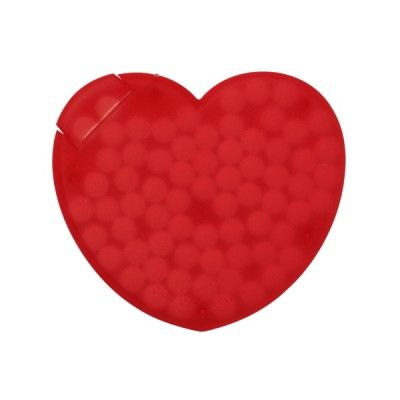 Heart Shaped Mint Cards provide a vibrant canvas for your promotional logo.
