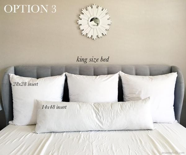 Pillow Size Guide For King Beds Arianna Belle Bed Pillows