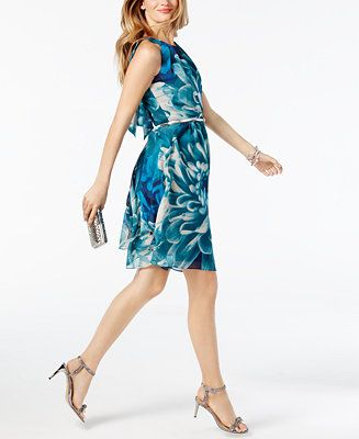 INC International Concepts Belted A-Lined Dress, Created for Macy's - INC International Concepts - Women - Macy's