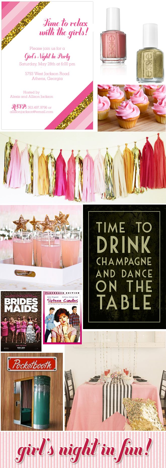 10 Girl's Night In Party Ideas