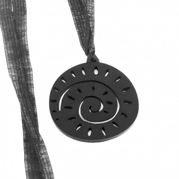 Spira Necklace - matte black plexiglass