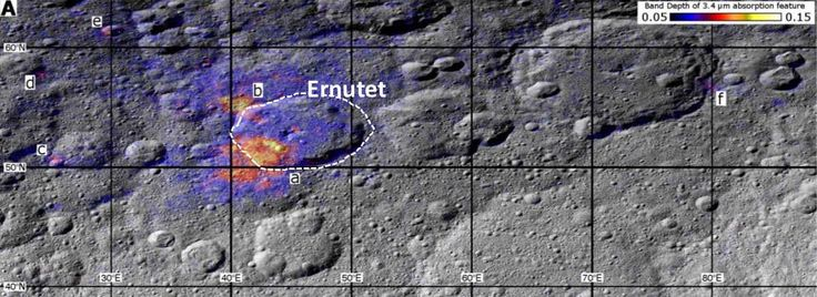 organic concentrations Ceres ( dwarf planet) credit NASA Caltech www.space.com