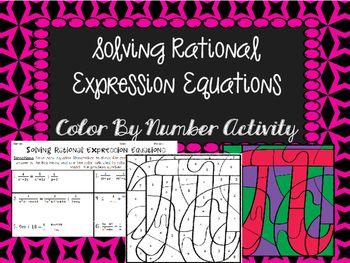 solving rational equations color by number activity algebra 2 trig algebra equations. Black Bedroom Furniture Sets. Home Design Ideas