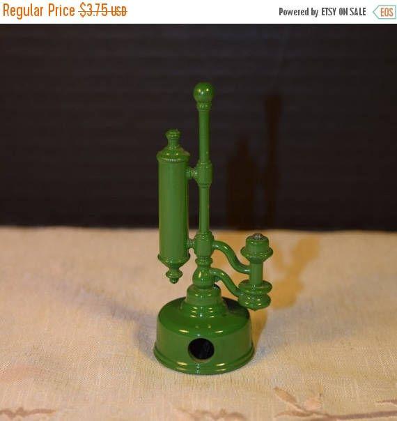 On SALE Toy Pencil Sharpener Vintage Green Lantern Light