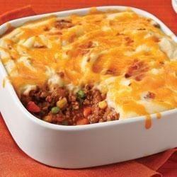 Updated Shepherds Pie add garlic powder, minced onion, Italian seasoning, salt and pepper. Garlic mash potatoes