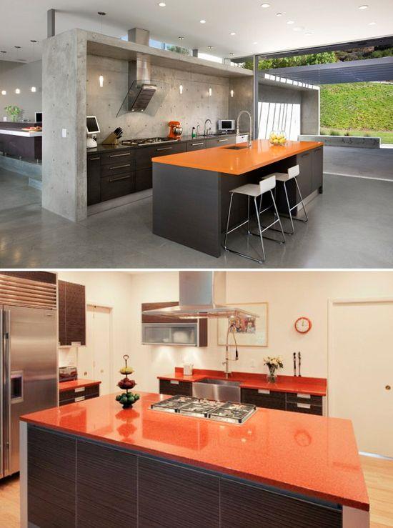 Beautiful Orange Countertops | Color: Orange | Pinterest | Countertops, Orange  Kitchen And Countertop