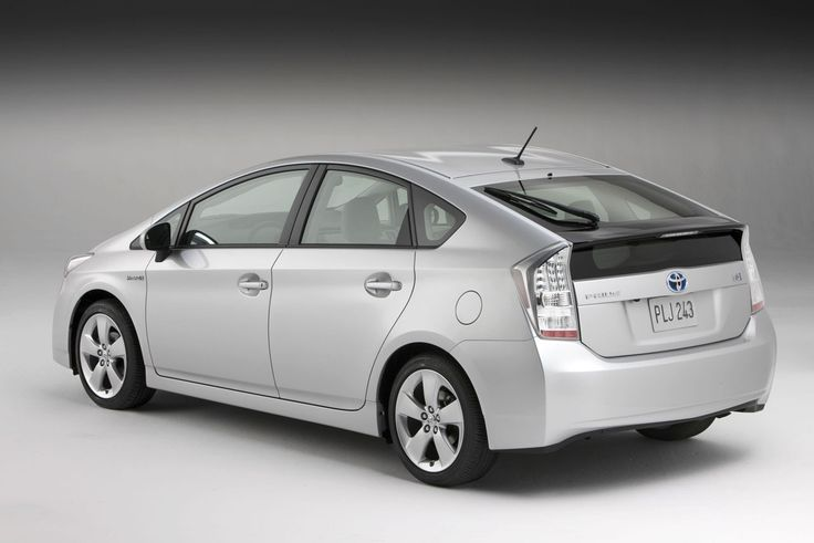 Image for Toyota Prius hybrid back view silver