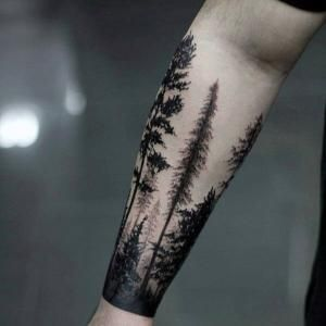Masculine Forest Forearm Tattoos For Gentlemen by diane.smith