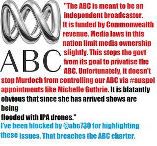 Mark Dickenson Twitter politician Australia.: Complaint to ABC 20/2/2017 no response.
