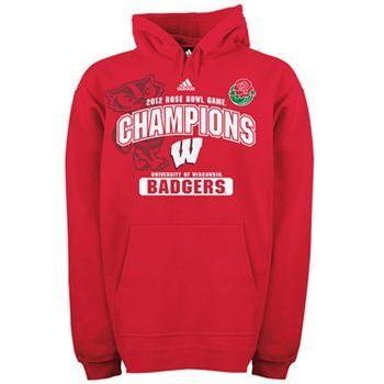 adidas Wisconsin Badgers 2012 Rose Bowl Champions Fleece Hoodie - Men's
