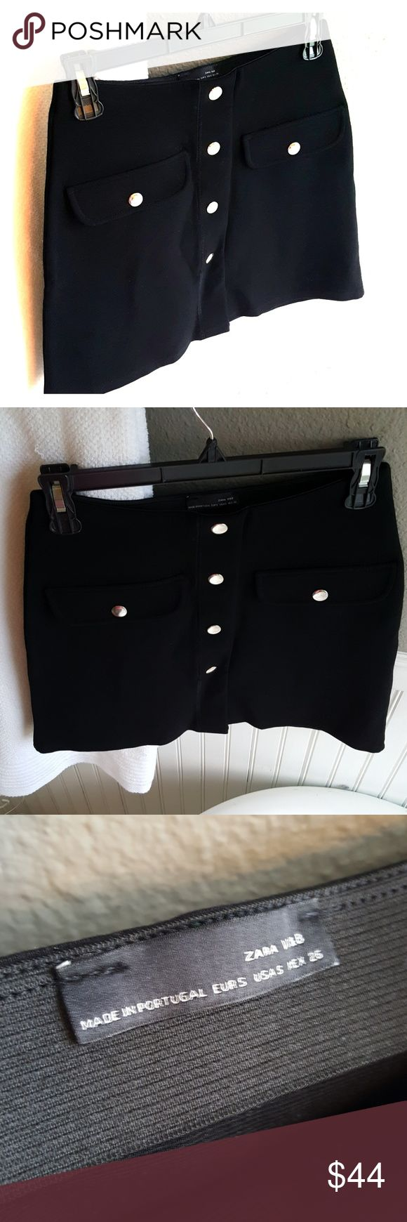NWOT Zara Skirt! Selling a NWOT Zara Skirt! Super cute skirt! This can go with anything! Gorgeous material, very stretchy, buttons down front, US size small. Zara Skirts