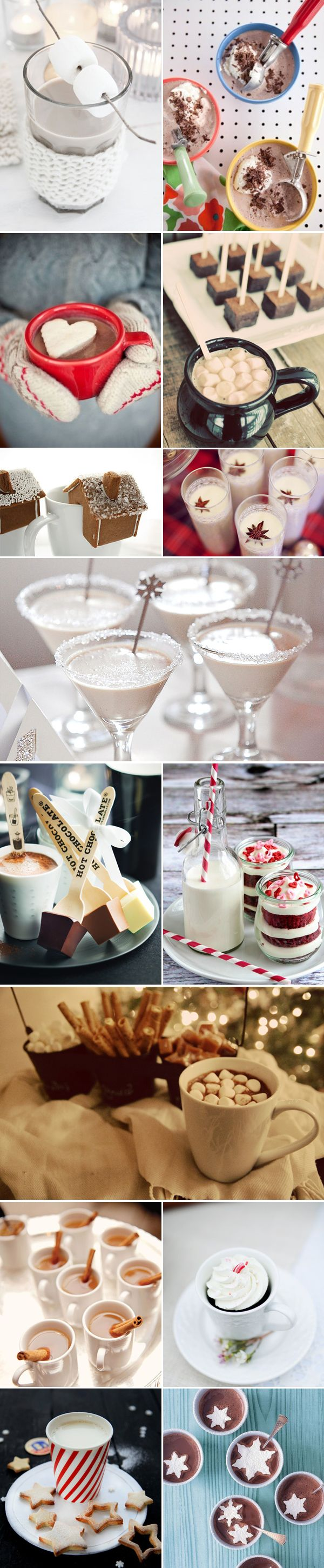 Cozy and cute winter wedding drinks