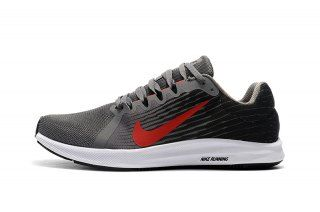 e5fd5e855c1 Mens Nike Downshifter 8 Casual Sneakers Grey Red White