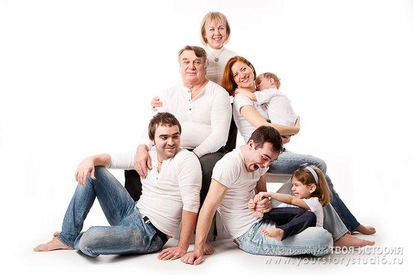 семейные фотосессии в фотостудии Твоя история